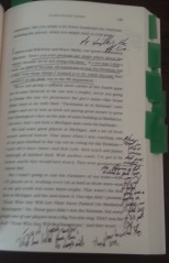 One of many pages marked this way.