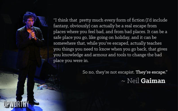 Neil Gaiman, Courtesy of Upworthy